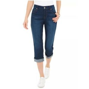 Style & Co Cuffed Curvy Capri Jeans Sz 6